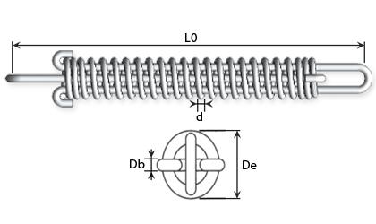Műszaki rajz - Rudazott húzórugók