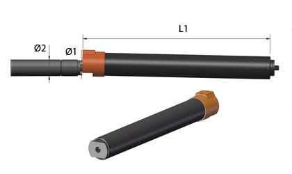 Műszaki rajz - Rögzítőcsövek - Fekete acél