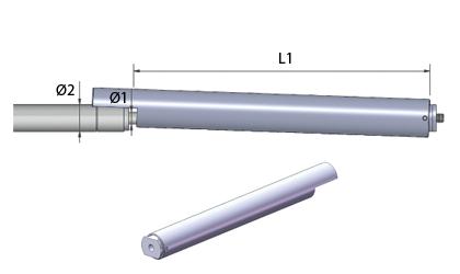 Műszaki rajz - Rögzítőcsövek - Rozsdamentes acél