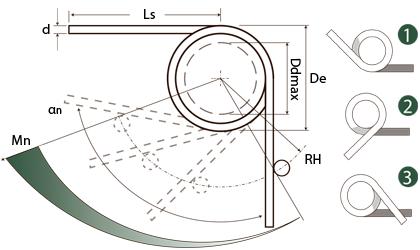 Műszaki rajz - Torziós rugók