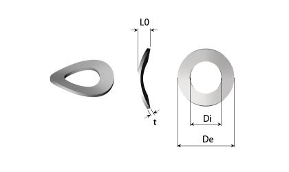 Műszaki rajz - Hullámos rugós alátétek